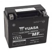BATTERIE 12V 10 Ah YTX12B YUASA AGM ACTIVEE EN USINE PRET A L'EMPLOI (Lg150xL87xH130)