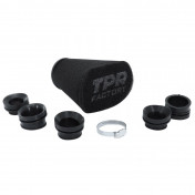 AIR FILTER TPR FACTORY BIF FOAM BLACK Ø 28-32-36-39-43 mm STRAIGHT FIXING (WITH ADAPTERS) TOP PERFORMANCE