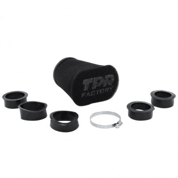 AIR FILTER TPR FACTORY BIG FOAM BLACK Ø 46-49-52-55-58-62 mm STRAIGHT FIXING (WITH ADAPTERS)TOP PERFORMANCE