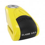ANTIVOL BLOQUE DISQUE AUVRAY B-LOCK AVEC ALARME SONORE DIAM 10mm JAUNE (CLASSE SRA)