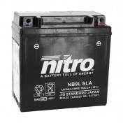 BATTERIE 12V 9 Ah NB9L NITRO SLA SANS ENTRETIEN PRETE A L'EMPLOI ACTIVEE EN USINE (Lg135xL75xH139)