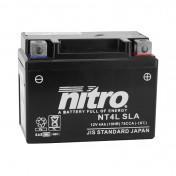 BATTERIE 12V 4 Ah NT4L NITRO SLA SANS ENTRETIEN PRETE A L'EMPLOI (Lg120xL71xH91mm) (EQUIVALENT YTC4L-BS / AGM / GEL)