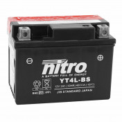 BATTERY 12V 3 Ah YT4L-BS NITRO MAINTENANCE FREE DELIVERED WITH ACID PACK (Lg114xWd70xH85) (EQUALS YT4L-BS)