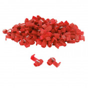 ELECTRIC CABLE TERMINAL- RED CONNECTOR PRE-ISOLATED -FOR WIRE 0,5 à 1.5 mm² (PER 100 IN A BAG PIECES) -SELECTION P2R-