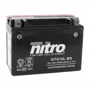 BATTERY 12V 13 Ah NTX15L-BS NITRO MF MAINTENANCE FREE WITH ACID PACK (Lg175x wd87xH130mm)