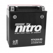 BATTERY 12V 17 Ah NTX20A-BS NITRO MF MAINTENANCE FREE WITH ACID PACK (Lg150x wd87xH161mm)