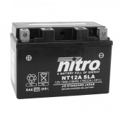 """BATTERY 12V 10 Ah NT12A NITRO AGM FACTORY ACTIVATED """"READY TO USE"""" (Lg150x wd87xH105mm)"""