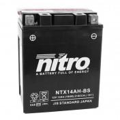 BATTERY 12V 12 Ah NTX14AH-BS NITRO MF MAINTENANCE FREE WITH ACID PACK (Lg134x wd89xH166mm)