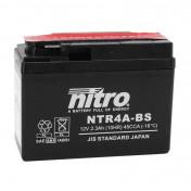 BATTERY 12V 2,3 Ah NTR4A-BS NITRO MF MAINTENANCE FREE WITH ACID PACK (Lg114X wd49xH86mm)