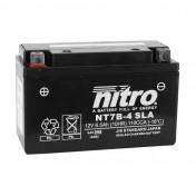 """BATTERY 12V 6,5 Ah NT7B-4 NITRO SLA MAINTENANCE FREE """"READY TO USE"""" (Lg150xWd65xH93) (EQUALS YT7B-4 / AGM / GEL)"""