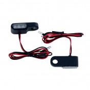 CLIGNOTANT A LED MOTO AVOC MATSUYAMA BASE ABS TRANSPARENT/NOIR ( L 45mm / H 10mm / L 15mm) (HOMOLOGUE CE) (PAIRE)