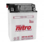 BATTERIE 12V 14 Ah NB14A-A2 NITRO CONVENTIONNELLE AVEC ENTRETIEN (Lg134xL89xH176)