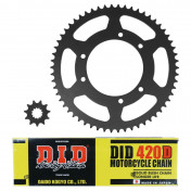 CHAIN AND SPROCKET KIT FOR HM 50 DERAPAGE COMPETITION 2003> 420 14x58 (140 LINKS) (OEM SPECIFICATIONS) -DID-