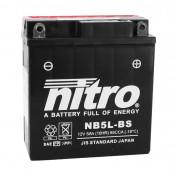 BATTERIE 12V 5 Ah NB5L-BS NITRO MF SANS ENTRETIEN AVEC PACK ACIDE (Lg120xL60xH130mm) (EQUIVALENT YB5L-BS)