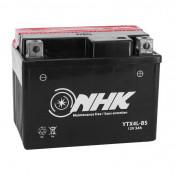 BATTERIE 12V 3 Ah NTX4L-BS NHK MF SANS ENTRETIEN LIVRE AVEC PACK ACIDE (Lg114xL71xH86mm) (QUALITE PREMIUM - EQUIVALENT YTX4L-BS)