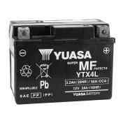 BATTERIE 12V 3 Ah YTX4L YUASA ACTIVEE EN USINE PRETE A L'EMPLOI (Lg114xL71xH86mm)