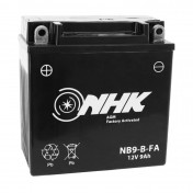 BATTERIE 12V 9 Ah NB9-B NHK FA SANS ENTRETIEN PRETE A L'EMPLOI (Lg135xL75xH139mm) (ACTIVEE EN USINE - QUALITE PREMIUM - EQUIVALENT YB9-B)
