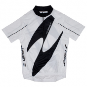 CYCLING JERSEY (FOR CHILD)-SHORT SLEEVES- WHITE -SIZE 10/12 Y.O.