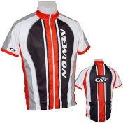 ADULT CYCLING JERSEY- NEWTON TEAM BLACK/RED/WHITE -SIZE M (FULL LENGTH ZIP)