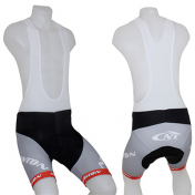 ADULT BIB SHORTS NEWTON - TEAM BLACK/SILVER/RED XXL