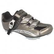 ATB CYCLING SHOE- EXUSTAR E-SM306 GREY-DOUBLE HOOK AND LOOP STRAPS- 1 MICROCLIP EURO 41 (PAIR)