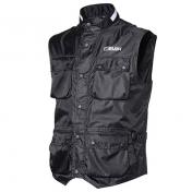 VEST HEVIK ZEFIRO BLACK XL (100% WIND PROTECT, 6 WATERPROOF POCKETS ON FRONT + 1 ON BACK)