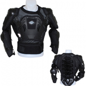 PROTECTIVE BODY ARMOUR-ATB/DOWNHILL- (BUST-SHOULDERS-ELBOWS) - P2R BLACK S
