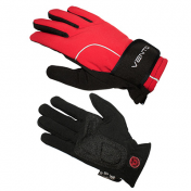 ADULT CYCLING GLOVE-LONG- VENTO WINTER - RED/BLACK L (PAIR)