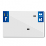 PLASTIC STRIP FOR BLANK PVC LICENSE PLATE (MOTORBIKE FORMAT 210X130)-DEPT 02/EUROPE (SOLD PER UNIT)