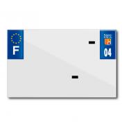 PLASTIC STRIP FOR BLANK PVC LICENSE PLATE (MOTORBIKE FORMAT 210X130)-DEPT 04/EUROPE (SOLD PER UNIT)