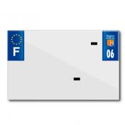 PLASTIC STRIP FOR BLANK PVC LICENSE PLATE (MOTORBIKE FORMAT 210X130)-DEPT 06/EUROPE (SOLD PER UNIT)