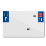 PLASTIC STRIP FOR BLANK PVC LICENSE PLATE (MOTORBIKE FORMAT 210X130)-DEPT 11/EUROPE (SOLD PER UNIT)