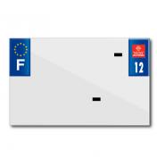 PLASTIC STRIP FOR BLANK PVC LICENSE PLATE (MOTORBIKE FORMAT 210X130)-DEPT 12/EUROPE (SOLD PER UNIT)