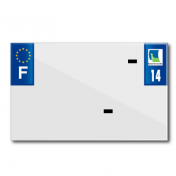 PLASTIC STRIP FOR BLANK PVC LICENSE PLATE (MOTORBIKE FORMAT 210X130)-DEPT 14/EUROPE (SOLD PER UNIT)