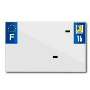 PLASTIC STRIP FOR BLANK PVC LICENSE PLATE (MOTORBIKE FORMAT 210X130)-DEPT 16/EUROPE (SOLD PER UNIT)