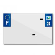 PLASTIC STRIP FOR BLANK PVC LICENSE PLATE (MOTORBIKE FORMAT 210X130)-DEPT 24/EUROPE (SOLD PER UNIT)