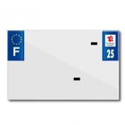PLASTIC STRIP FOR BLANK PVC LICENSE PLATE (MOTORBIKE FORMAT 210X130)-DEPT 25/EUROPE (SOLD PER UNIT)