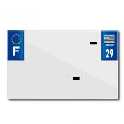 PLASTIC STRIP FOR BLANK PVC LICENSE PLATE (MOTORBIKE FORMAT 210X130)-DEPT 29/EUROPE (SOLD PER UNIT)