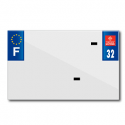 PLASTIC STRIP FOR BLANK PVC LICENSE PLATE (MOTORBIKE FORMAT 210X130)-DEPT 32/EUROPE (SOLD PER UNIT)