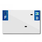 PLASTIC STRIP FOR BLANK PVC LICENSE PLATE (MOTORBIKE FORMAT 210X130)-DEPT 33/EUROPE (SOLD PER UNIT)