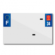 PLASTIC STRIP FOR BLANK PVC LICENSE PLATE (MOTORBIKE FORMAT 210X130)-DEPT 34/EUROPE (SOLD PER UNIT)