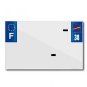 PLASTIC STRIP FOR BLANK PVC LICENSE PLATE (MOTORBIKE FORMAT 210X130)-DEPT 38/EUROPE (SOLD PER UNIT)