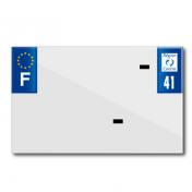 PLASTIC STRIP FOR BLANK PVC LICENSE PLATE (MOTORBIKE FORMAT 210X130)-DEPT 41/EUROPE (SOLD PER UNIT)