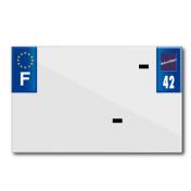 BANDE PLAQUE MOTO 210x130 POUR PVC VIERGE DEP. 42/EURO (VENDU A L'UNITE)
