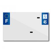 PLASTIC STRIP FOR BLANK PVC LICENSE PLATE (MOTORBIKE FORMAT 210X130)-DEPT 45/EUROPE (SOLD PER UNIT)