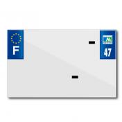 PLASTIC STRIP FOR BLANK PVC LICENSE PLATE (MOTORBIKE FORMAT 210X130)-DEPT 47/EUROPE (SOLD PER UNIT)