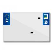 PLASTIC STRIP FOR BLANK PVC LICENSE PLATE (MOTORBIKE FORMAT 210X130)-DEPT 50/EUROPE (SOLD PER UNIT)