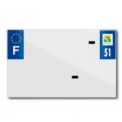 PLASTIC STRIP FOR BLANK PVC LICENSE PLATE (MOTORBIKE FORMAT 210X130)-DEPT 51/EUROPE (SOLD PER UNIT)