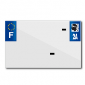 PLASTIC STRIP FOR BLANK PVC LICENSE PLATE (MOTORBIKE FORMAT 210X130)-DEPT 2A/EUROPE (SOLD PER UNIT)