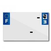 PLASTIC STRIP FOR BLANK PVC LICENSE PLATE (MOTORBIKE FORMAT 210X130)-DEPT 2B/EUROPE (SOLD PER UNIT)